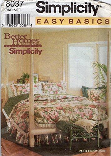 (Simplicity Pattern 8037 Better Homes and Gardens Designs Comforter, Duvet, Dust Ruffle,)