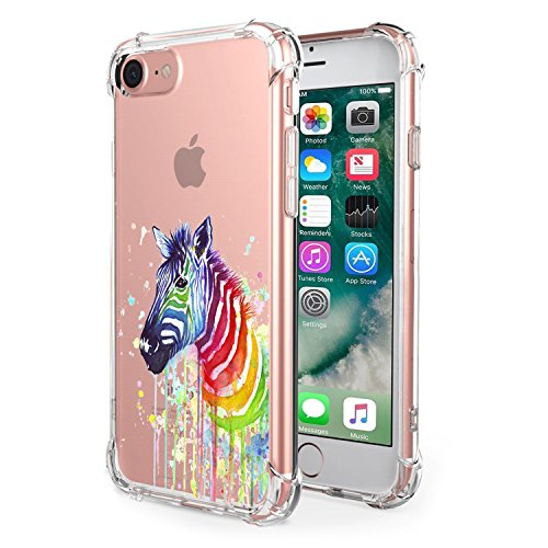 Lajer iphone6 6s Case, Cases Bumper Anti-Scratch Shock Resistant Soft TPU Frame For Apple IPHONE6CASE Cover Clear Hard Back Protective (iphone6 6s 4.7, Zebra) Zebra Hard Case Cover