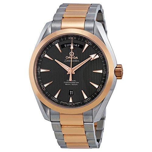 Omega-Mens-Aqua-Terra-Swiss-Automatic-Stainless-Steel-Dress-Watch-ColorTwo-Tone-Model-23120422206001