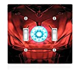 Chest Armor Double Light Switch Plate