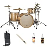 Ludwig USA Keystone (JF-LK7243KXSP-KIT-01) 3 Pc Drum Shell Pack with ChromaCast Accessories,  ShamPayne Sparkle