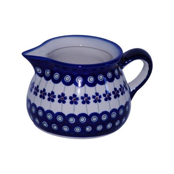 Boleslawiec Pottery Milk jug, 0.6L, Original Bunzlauer Keramik, Decor 166a