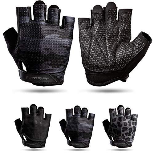 Fitgriff® Fitness Handschoenen V3 – Anti Slip Dumbbell Gloves – Heren en Dames – voor Sport, Gym, Gewichten, Bescherming…