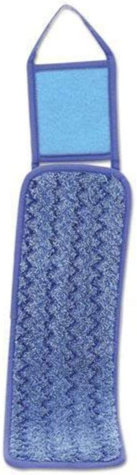 Blue Q415BE Nylon//Polyester Microfiber 18 Inches Long Rubbermaid Commercial Wet Pad with Scrubber