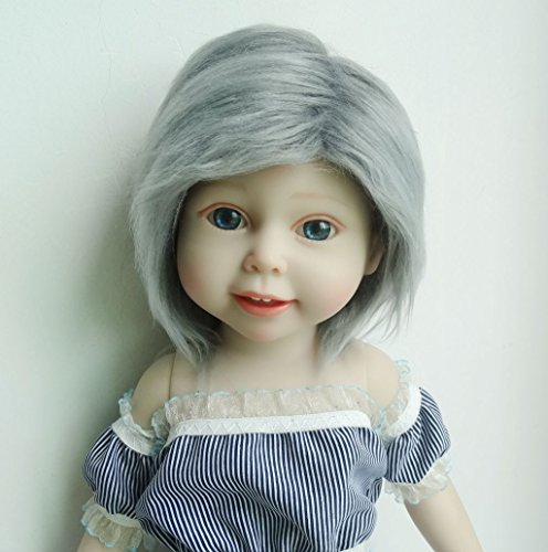 Doll Fur Wig (Handmade Smoke Grey 11