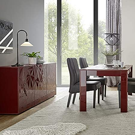 Kasalinea - Mueble de Comedor de diseño Lacado (3 Puertas, Mesa ...