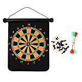 MagiDeal 2 in 1 Chess Board Dart Board Magnetic Safe Game Family Party Entertainment 46x37cm