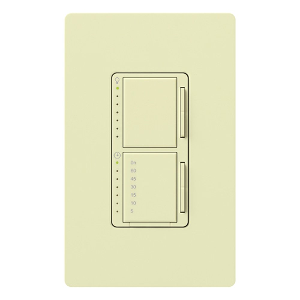 Lutron MA-L3T251-AL Maestro 300 Watt Single Pole Dimmer And Timer Switch, Almond by Lutron B0017NZNI8 アーモンド アーモンド