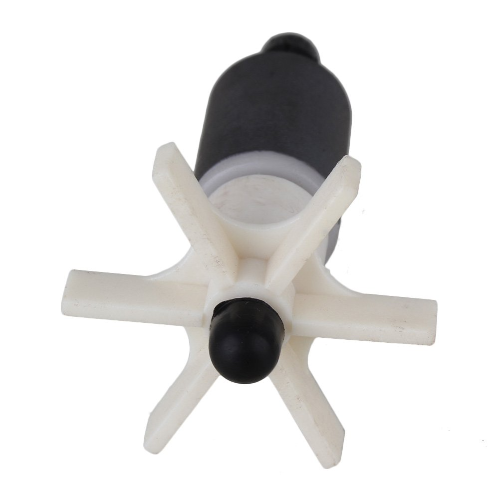 Yibuy 16mm Miniature White Plastic Impeller Unit Replacement Submersible Pump Rotor
