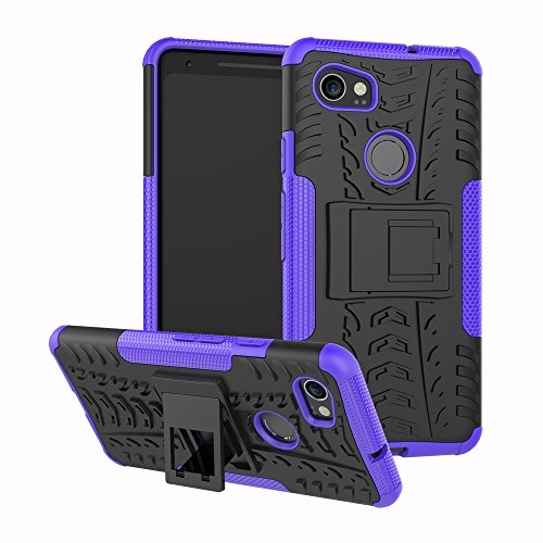 NOMO Google Pixel 2 Case,Pixel 2 Case with Kickstand Hybrid Rugged Shockproof Slim Dual Layer Armor Hard PC Back TPU Bumper Protective Phone Case Cover for Google Pixel 2 (5.0 inch) 2017,Purple -