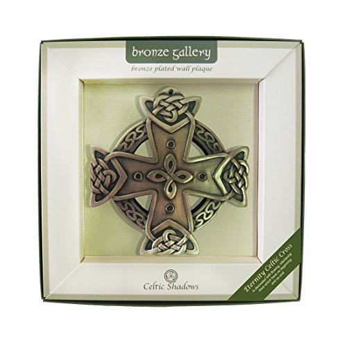 - Royal Tara Bronze Plated Wall Plaque with Eternity Cross Design