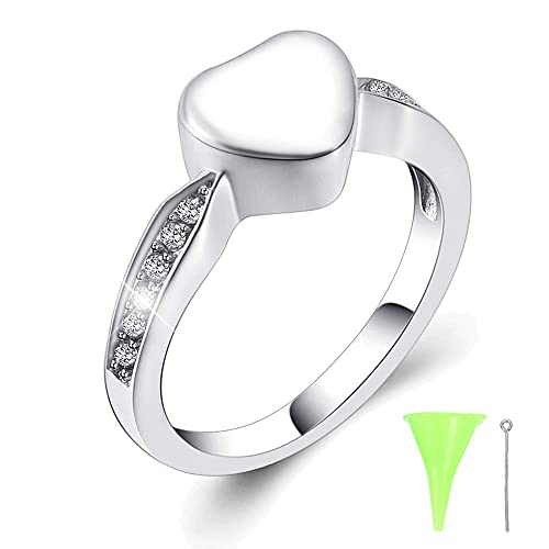aafa56af15c12 Yinplsmemory Cremation Rings for Ashes Stainless Steel Customize Cremation  Ash Keepsake Memorial Jewelry Size(6,7,8,9)