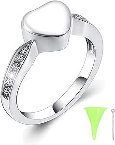 Glow Pet Keepsake CRA015 8mm width Cremation Jewelry Ring Meteorite