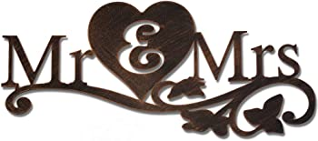 Wiphany Mr & Mrs Metal Rustic Sign