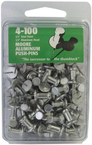 Moore Push-Pin Aluminum Push-Pins 4-100 (4-100)