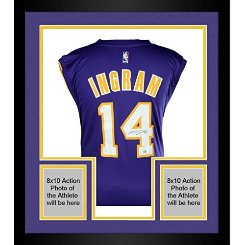 566a8b82505 chic Framed Brandon Ingram Los Angeles Lakers Autographed Purple Adidas  Replica Jersey - Fanatics Authentic Certified