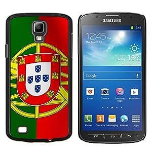 Caucho caso de Shell duro de la cubierta de accesorios de protecci¨®n BY RAYDREAMMM - Samsung Galaxy S4 Active i9295 - La bandera de Portugal