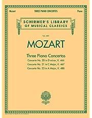 Mozart - 3 Piano Concertos: Schirmer Library of Classics Volume 4481 Two Pianos, Four Hands