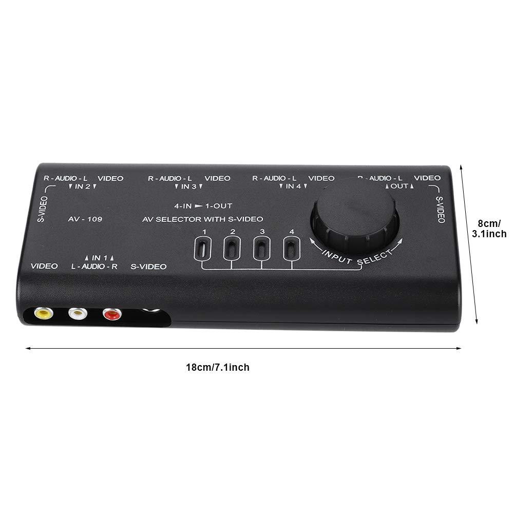 rosenice RCA Commutatore MT 431av 4/Vie Interruttore AV 4/in 1/di selezione L//R Audio Video Composito