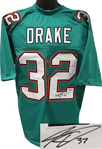 hot sale online d253b b8a18 Kenyan Drake signed Teal Custom Stitched Pro Style Football ...