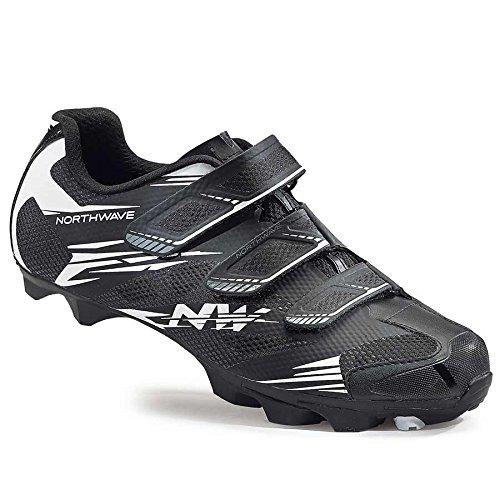 Northwave Scorpius 2 MTB Fahrrad Schuhe schwarz/weiß 2016: Größe: 50
