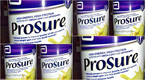 Abbott Prosure Powder Banana Flavor 6X400g High Energy High Protein-14.1Oz Each by Abbott