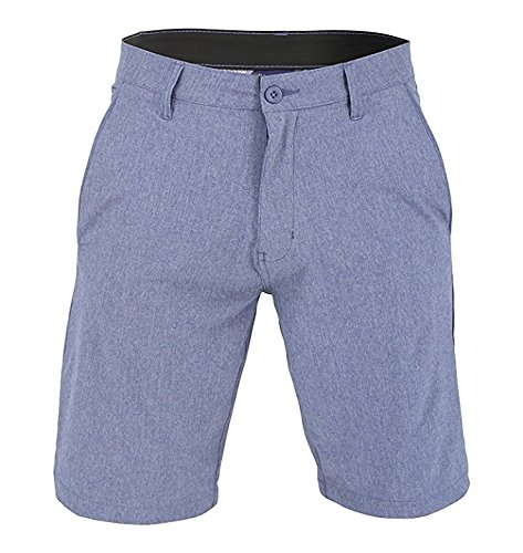 US Apparel Men's Walker Quick Dry Microfiber Swim Shorts Denim Blue 32 (Blue Mens Walker)