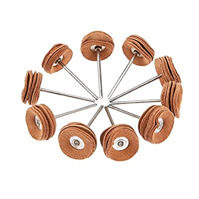 Wheel Polishing Kit Buffing Wheels, 3mm Shank Rotary Tool for Jewelry Tool 10Pcs: Home Improvement