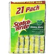 Scotch-Brite Heavy Duty Scrub Sponge, 21-Count