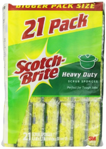 Scotch-Brite Heavy Duty Scrub Sponge, 21-Count