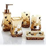 LINA@ Creative European modern resin Butterfly loves a flower bath with five piece of cover