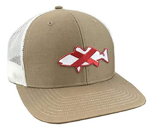 Dixie Fowl Company AL Redfish - Adjustable Cap Tan/White