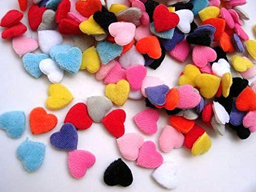 100 Assorted Padded Mini Puffy Plush Mix Heart Applique/Trim/Sewing/Fabric #ID-738 (Puffy Heart Fabric)