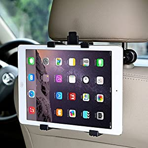 "ieGeek Adjustable Car Seat Headrest Mount Holder for Portable DVD Player, Apple iPad Air/ Mini, Samsung Galaxy Tab, Kindle Fire, and 7"" to 12"" Tablets"