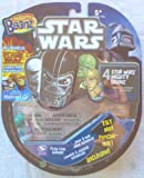 Mighty Beanz 2010 Exclusive Star Wars Starter Pack Set with 1 CLONE WARS Bean 4 Beanz