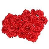 Foxnovo Artificial Rose Flower-20pcs(Red)