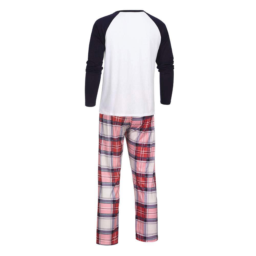 Women Mommy Cartoon Blouse Pants Family Pajamas Sleepwear Matching Christmas Set