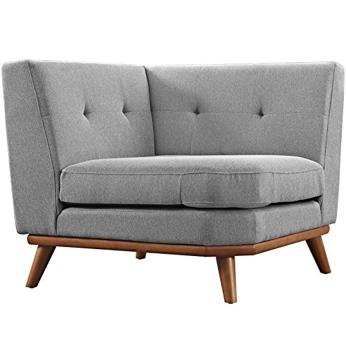 Modern Contemporary Corner Sofa , Grey, Fabric