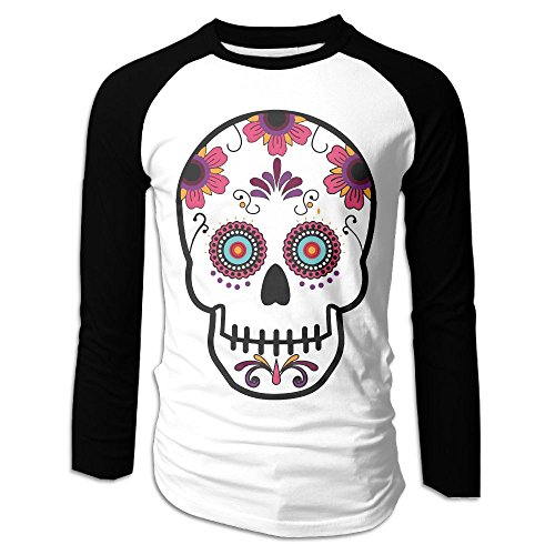 Super7Store Men's Skull Clipart Cotton Tshirt Popular Long-sleevedClothes