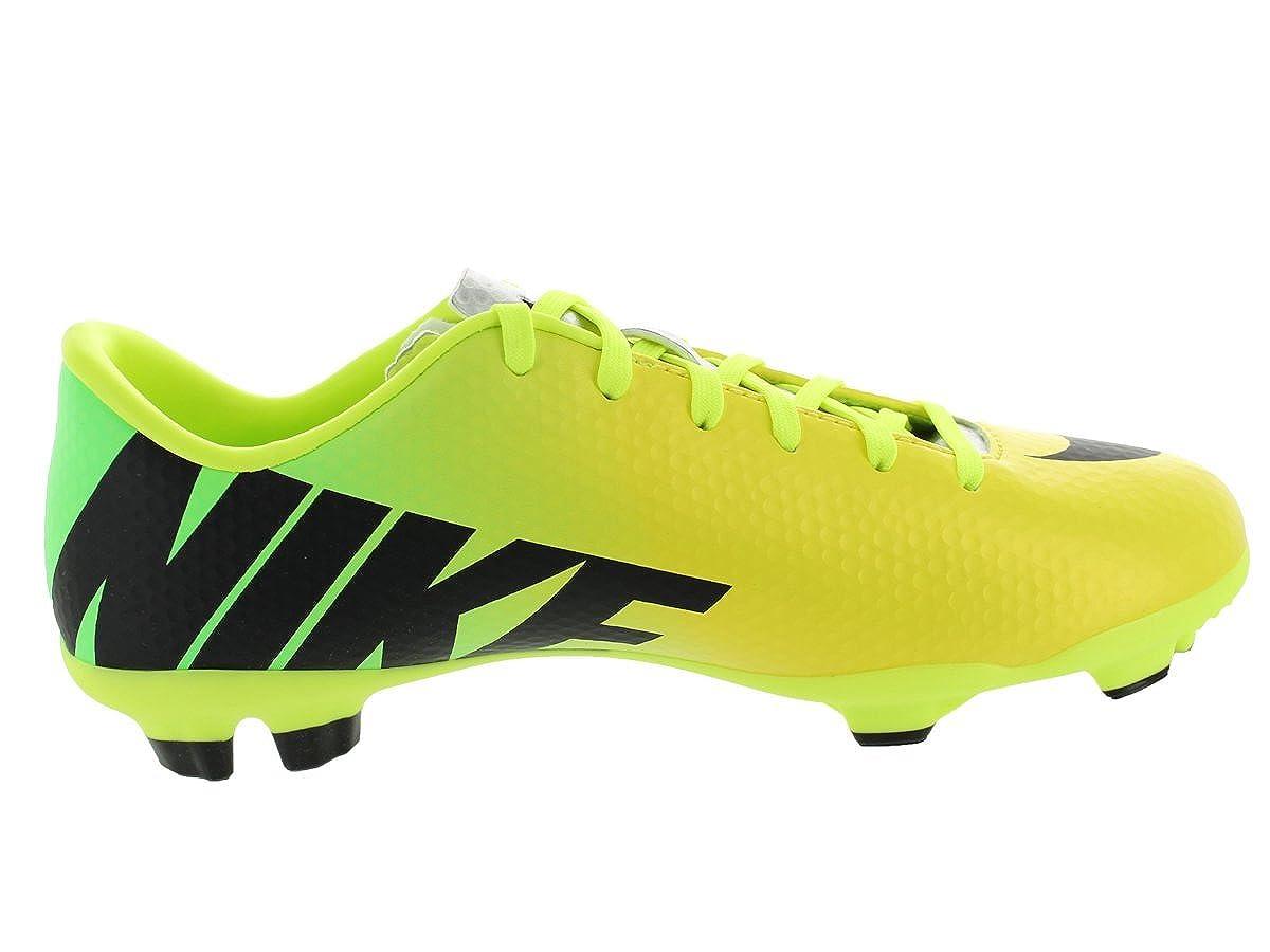 Nike Kids Jr Mercurial Veloce FG Vibrant Yellow//Black//Neo Lime Soccer Cleat 6 Kids US
