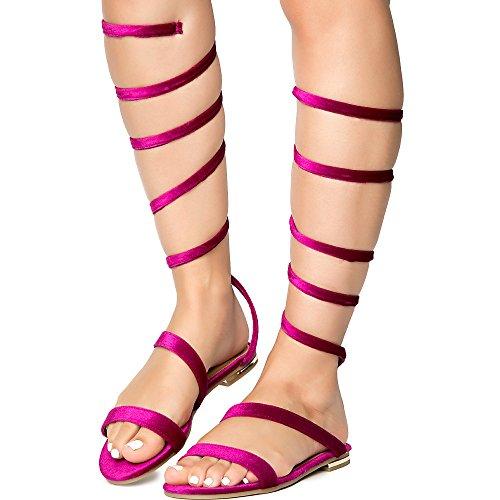 Bambus Kvinners Jmp Kur-15 Sandal Sandal Fuchsia