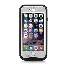 Merit™ iPhone6 Plus/6s Plus Waterproof Case [New Version] 6.6ft Underwater Waterproof Shockproof Snowproof Dirtproof Protection Case Cover for iPhone 6 Plus/6s Plus 5.5 inch (White)