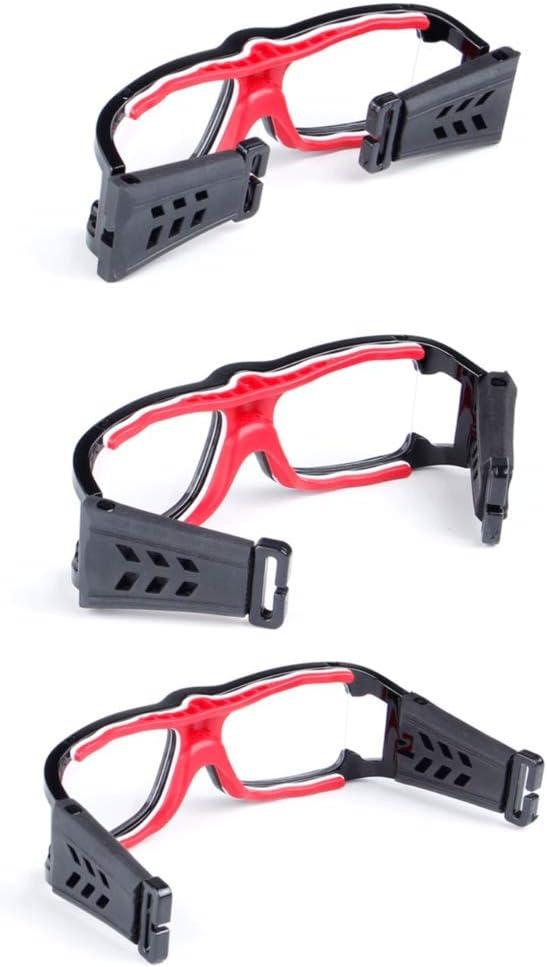 Aeromdale Gafas Deportivas Gafas Protectoras de Seguridad de Baloncesto con Correa Ajustable para Baloncesto F/útbol Voleibol Hockey F/útbol Protector de Gafas Unisex