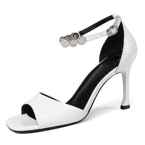 41dad614 Sandalias para Mujer Punta Cuadrada Punta Abierta Pedrería Mujer Hebilla De  Zapatos De Mujer: Amazon.es: Zapatos y complementos