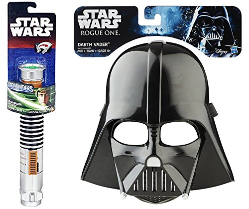 Star Wars: Rogue One Darth Vader Mask & Luke Skywalker Return of the Jedi Extendable Lightsaber Combo Dress Up Pack