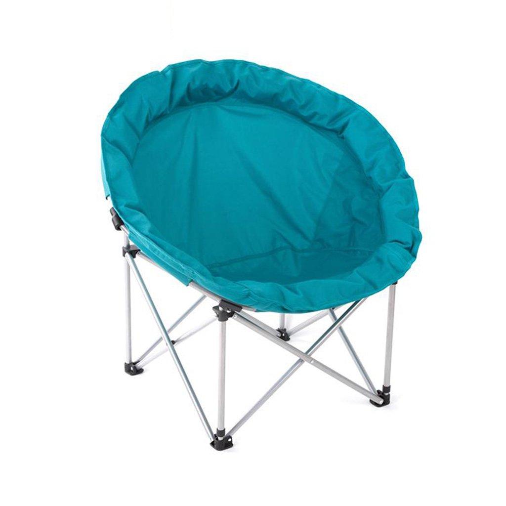 【人気ショップが最安値挑戦!】 ムーンチェアレジャーキャンプ用椅子(カップホルダーなし)スチールフレーム折りたたみ式パドックポータブル (色 (色 : 青) 青 青) 青 B07HM4PTBM, 最先端:461025ac --- arianechie.dominiotemporario.com