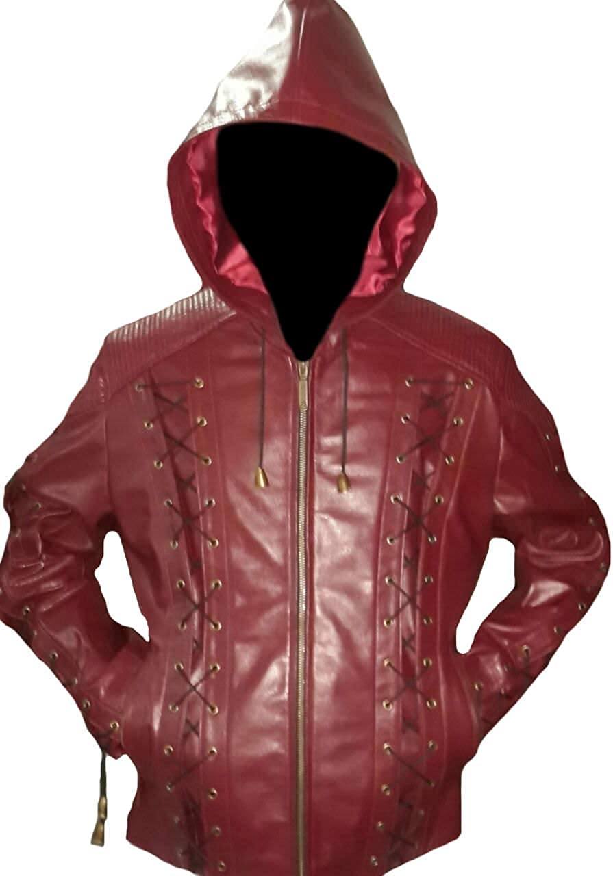 Stormwise Mens Fashion Real Leather Arrow Jacket