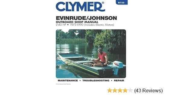 Evinrude/Johnson 2-40 HP OB 73-1990 (Clymer Marine Repair