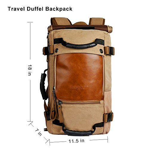 f1d68a12d6 Ibagbar Canvas Backpack Travel Bag Hiking Bag Camping Bag - Import It All