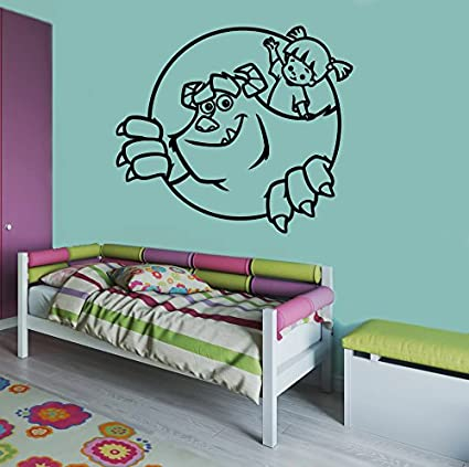 Sullivan Boo Going To Visit Wall Image Monsters Inc Wall Vinyl